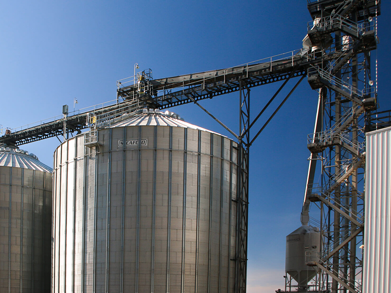 Silos in North Horn Rapids area