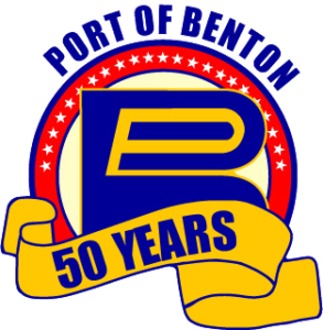 Port of Benton 50 Years logo