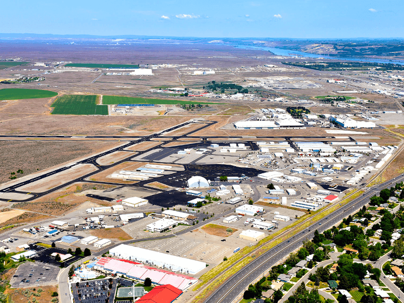 Richland Airport from the South