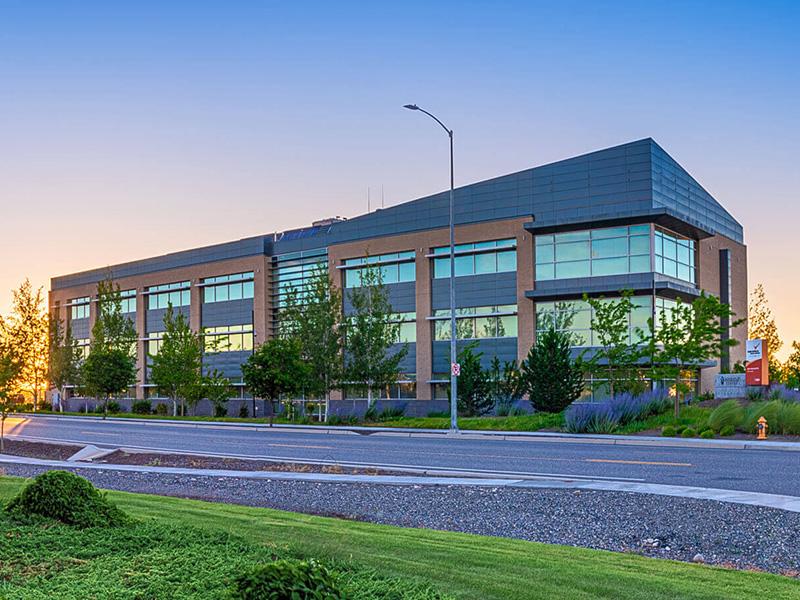 Richland Innovation Center at sunrise