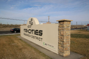 Tri-Cities Research District sign