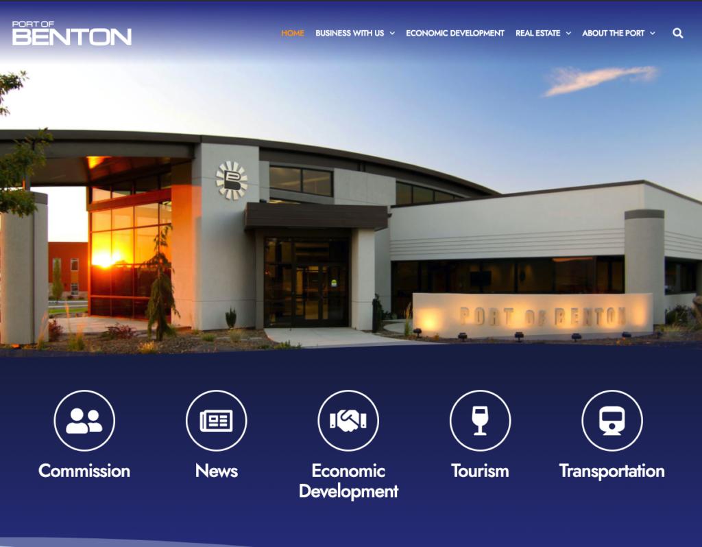 Screenshot of Port Website
